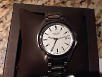 Brand new men's stainless steel Birks watch