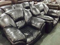 Black leather 3 11 sofa set