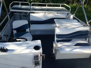 24ft Lowe Pontoon Boat 90HP Evinrude Outboard (More Pics Soon)