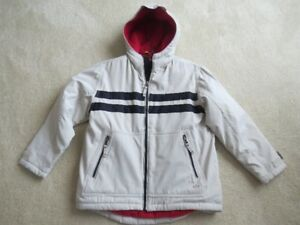Brand New Gap Boy's Coat. Off White/Navy Stripes. Size 8 (M).
