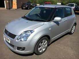 0808 Suzuki Swift GLX 1.5 Silver 5 Door 31694mls MOT April 2018