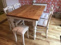Beautiful Restored shabby chic 6 seater dining table