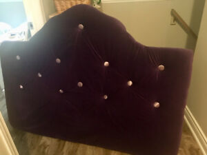 Purple Velvet Headboard