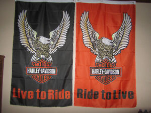 Harley Davidson Flags and Banners - new