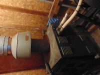 Gas fired boiler and pump  and sand filter