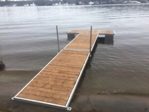 quais /docks alluminium top quality par section sold by section