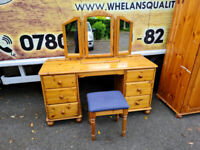Pinewood dressing table with puffee £75