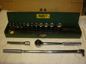 Socket set from 3/8  to  1 1/8 inch