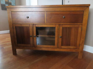 Walnut stained cabinet
