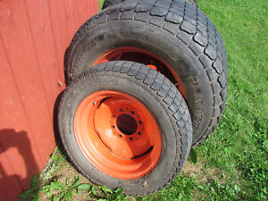 Tractor tires with rims. Good condition