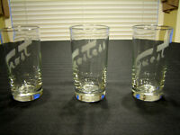 "3 SPECIAL EVENT GLASSES ETCHED WITH ""HOST,HOSTESS,& GUEST"""