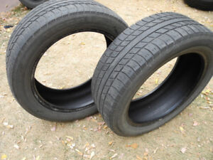 P215/55R18, two tires Uniroyal Tiger Paw Touring, decent shape!