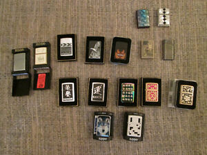 Zippo lighters and various other sorts