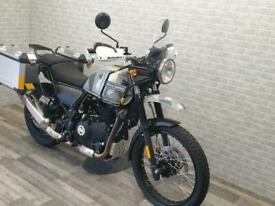 2018 (18) ROYAL ENFIELD HIMALYAN IN SLEET GREY WITH PANNIERS AND ONLY 1403 MI...