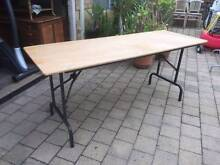 Timber Top Folding Trestle Table Beckenham Gosnells Area Preview