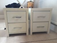 Pair of bedside drawers
