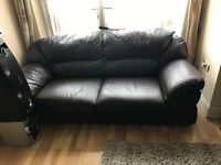 Brown leather three seat sofa in excellent condition