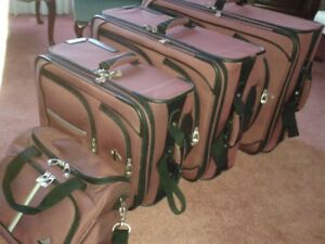 4 PIECE SET OF SOFT SIDED LUGGAGE