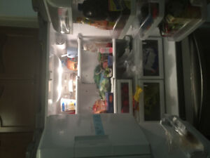 "Stainless Steel LG 33"" French door Refrigerator. 25 Cu. Ft."