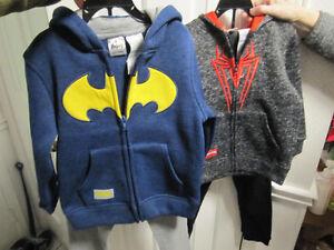 Batman & Spiderman,,hoodie & trackpants, size 5, BNWT
