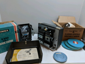 Vintage movie projector and editor