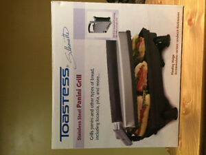 Toastess stainless steel panini grill
