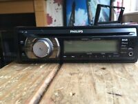 Phillips car stereo with facia and cable adapter for Vauxhall Corsa