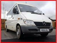 MERCEDES BENZ SPRINTER 311 CDI LWB + HIGH ROOF + 17 SEATER MINIBUS