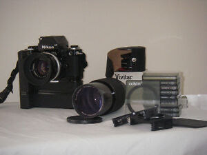 Nikon F2 photomic camera etc.