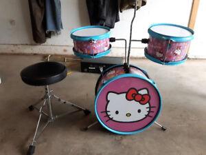 Hello Kitty drum set with seat