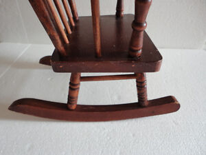 Handmade solid wooden decorative rocking chair for display London Ontario image 3