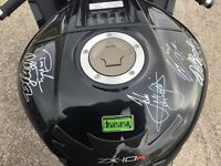 2013 zx10r signed by some racing legends