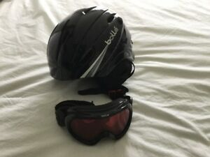 Kids Bolle ski helmet and goggles