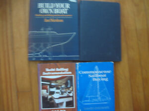 Four books about building or repairing and fitting out a boat