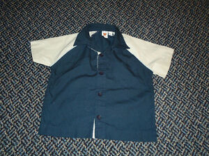 Boys Size 12 Months Bowling Style Short Sleeve Dress Shirt