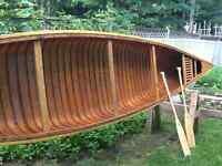 18 Ft. Miller Cedar Strip Canoe