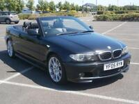 2005 05 BMW 318 CI 2.0 M SPORT AUTO CONVERTIBLE METALLIC BLACK