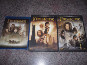 Lord Of The Rings trilogy on Blu-Ray and DVD - all for $10