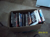 lots of DVDs to look at. All kinds comady, adventure, action ETC