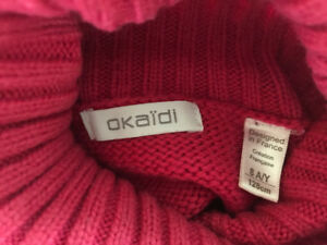 Pink sweater 8yr girl Okaidi