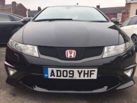 Honda Civic 2.0 i-VTEC TYPE R Good / Bad Credit Car Finance (black) 2009