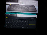 Brand new logitech  K400 Plus keyboard for comp/tv  use