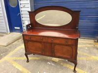 Beautiful Antique Mahogany Mirror Backed Sideboard
