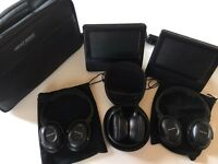 Nextbase Double Car DVD players, 3 x wireless headsets and carry cases
