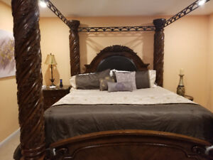 Ashley North Shore 8 Piece King Canopy Bedroom set for SALE!