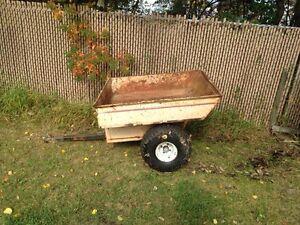 Dumping tub trailer