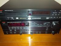 Luxman Stereo receiver/amp, CD player, Sony sub, Dual turntable