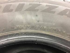 Set of Bridgestone Blizzak Tires
