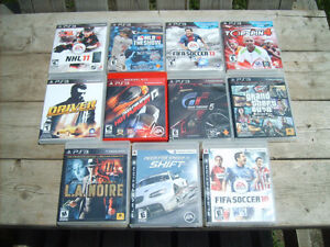 Excellent Condition: Various Sony PS/3 Games