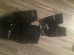 YTH large Bauer hockey pants and jock
